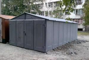 Серый металлический гараж фото купить гараж в химках